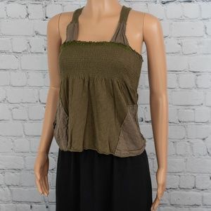 Free People knit olive tank top